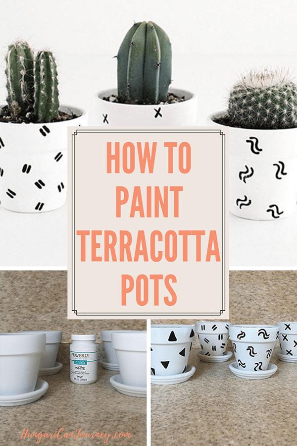 Boho Painted Terracotta Pot tutorial