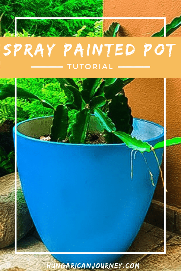 Spray painted DIY pot tutorial
