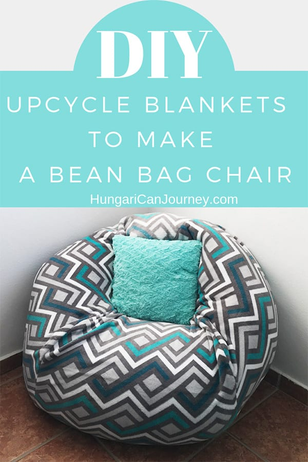 Convertible bean bag chair DIY