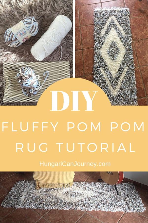 Pom pom rug DIY tutorial