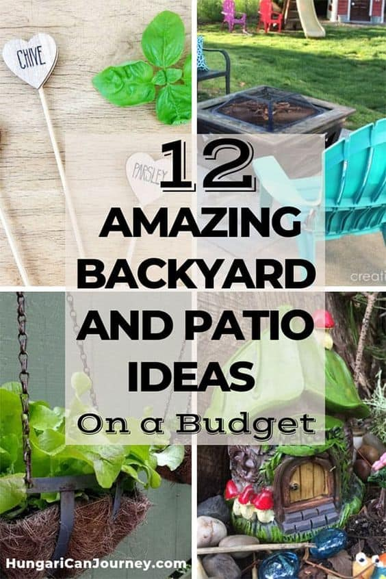 backyard and patio DIY projects