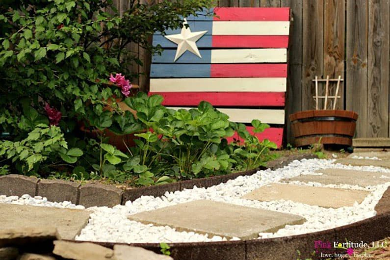 backyard garden path DIY