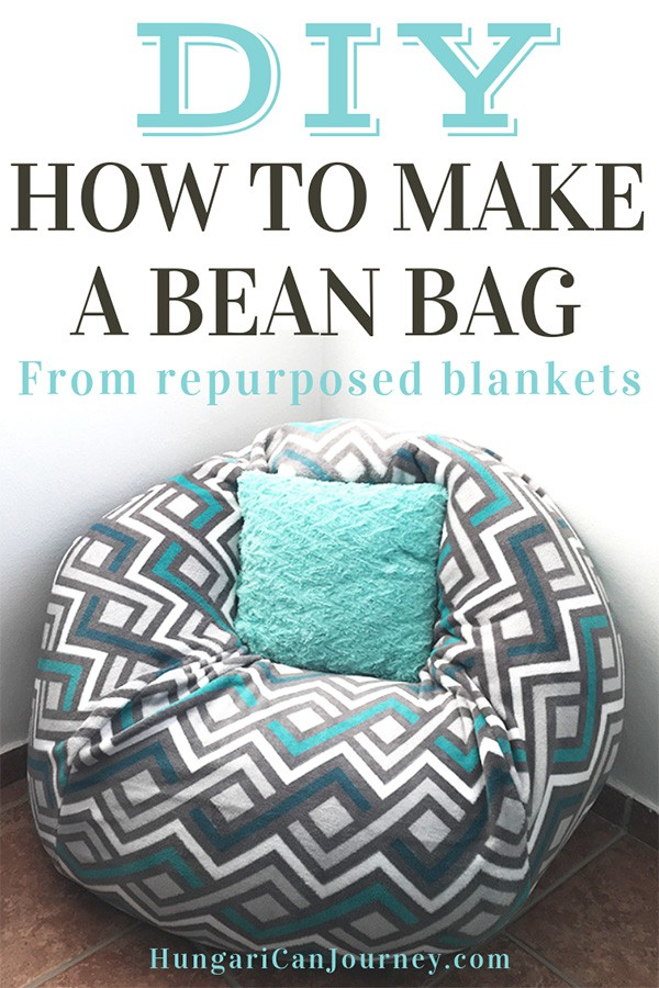 How To Make A Bean Bag Chair Out Of Old Blankets