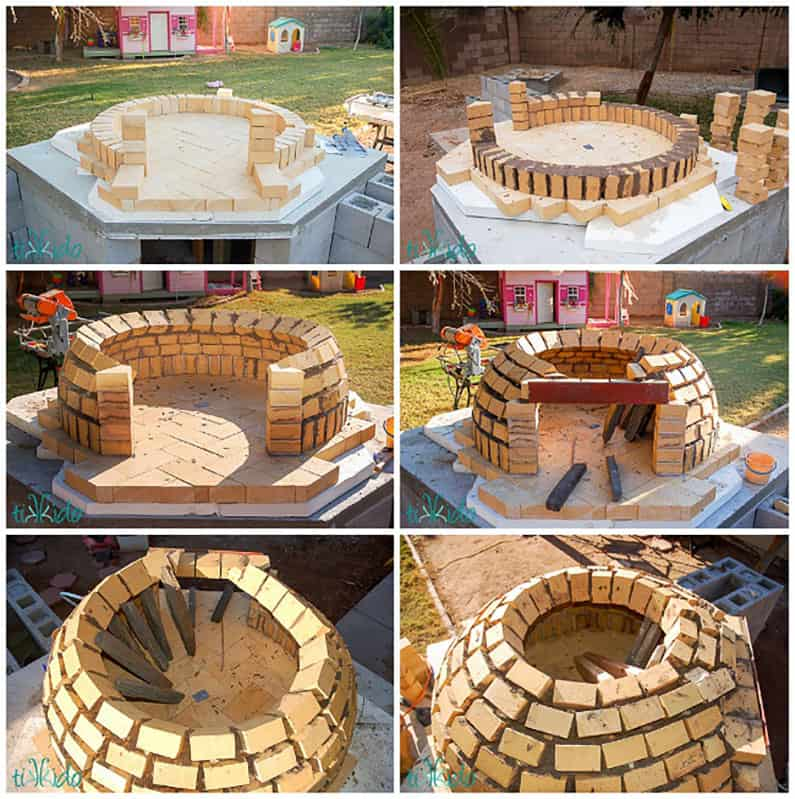 wood fired pizza oven DIY tutorial