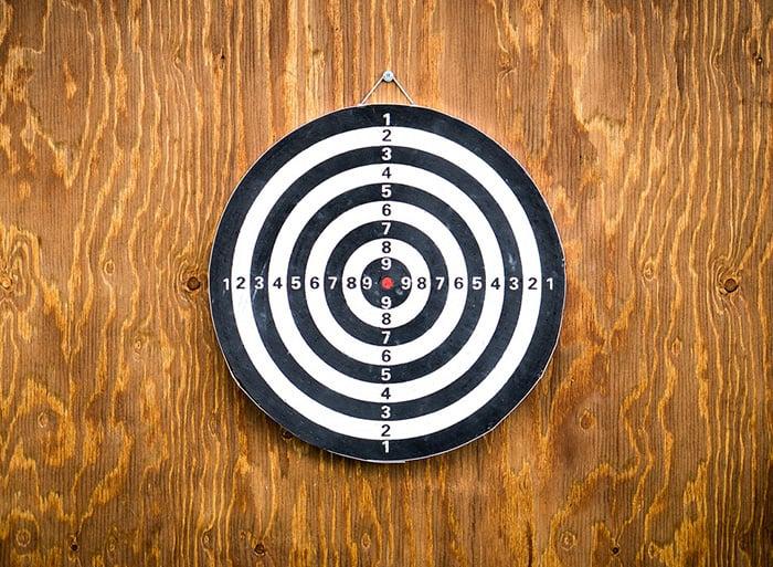 DIY darts backboard backyard games for adults