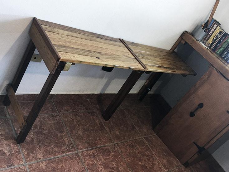 diy space saving ideas folding table