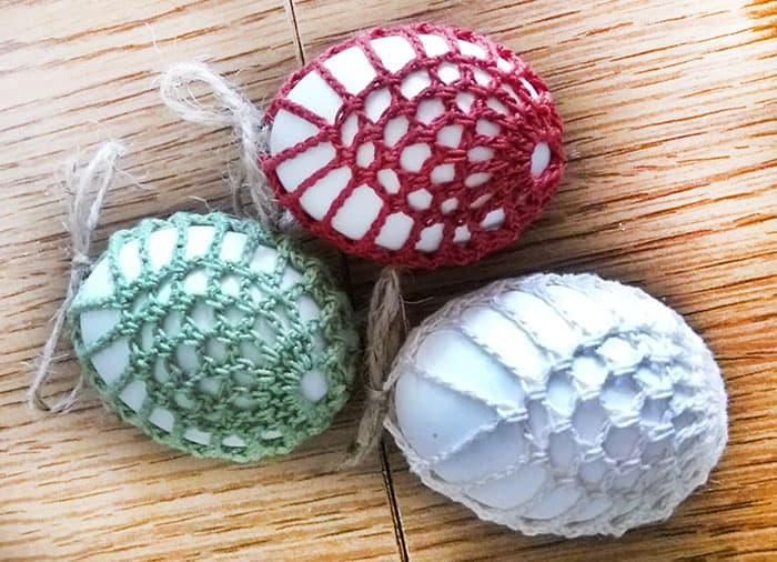 DIY crochet easter eggs