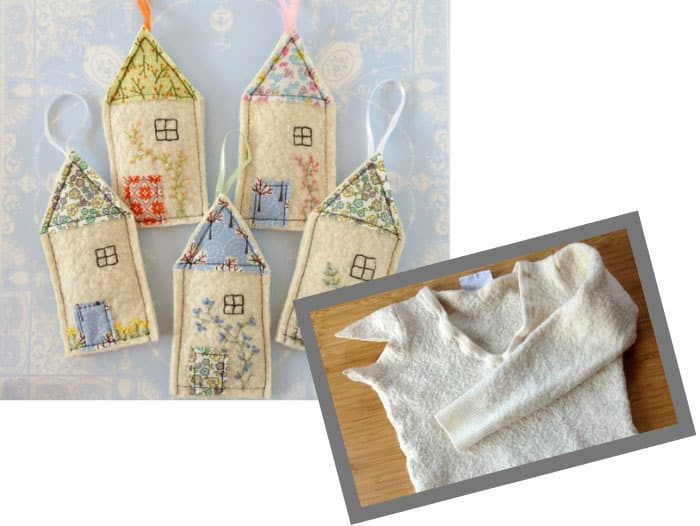 lavender house bags from old sweaters