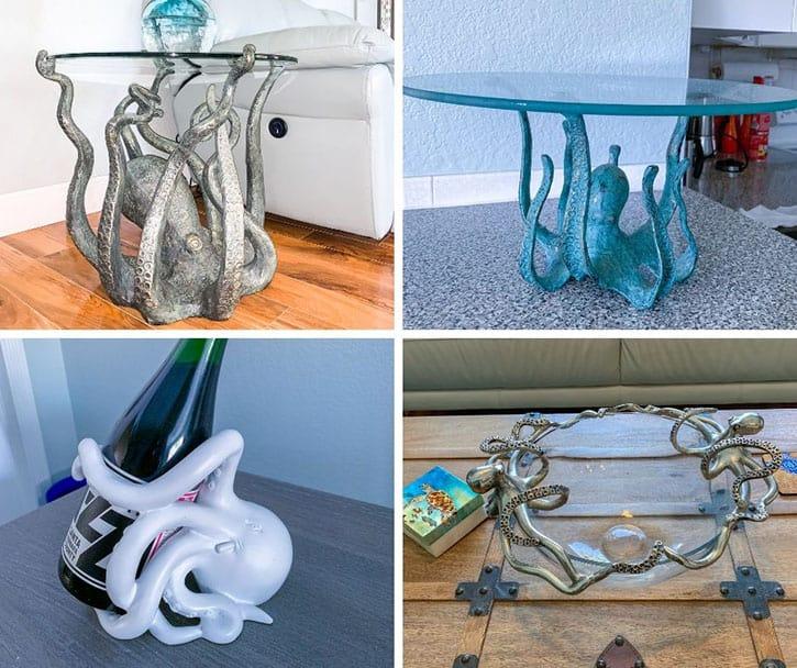 octopus beach themed table decor