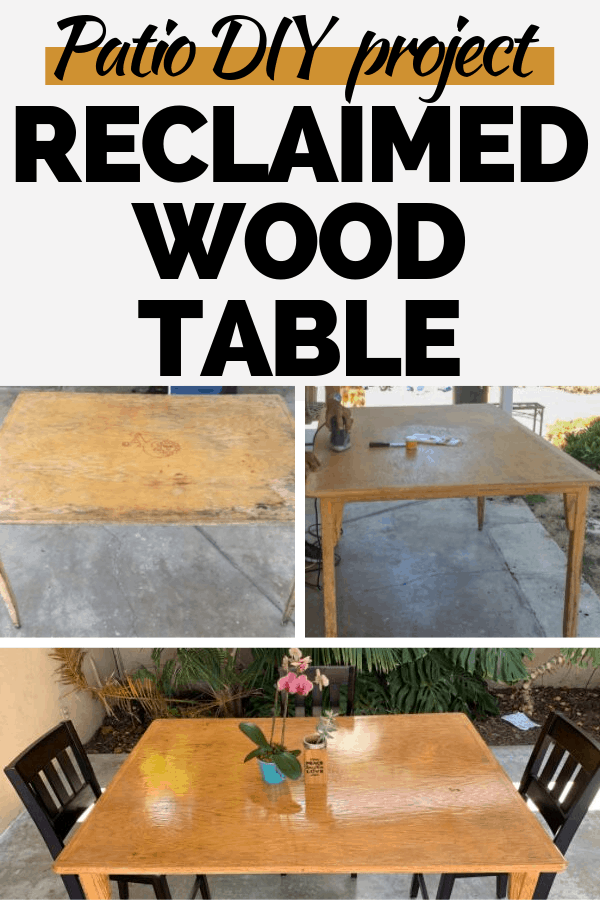 repurposed patio wood table DIY