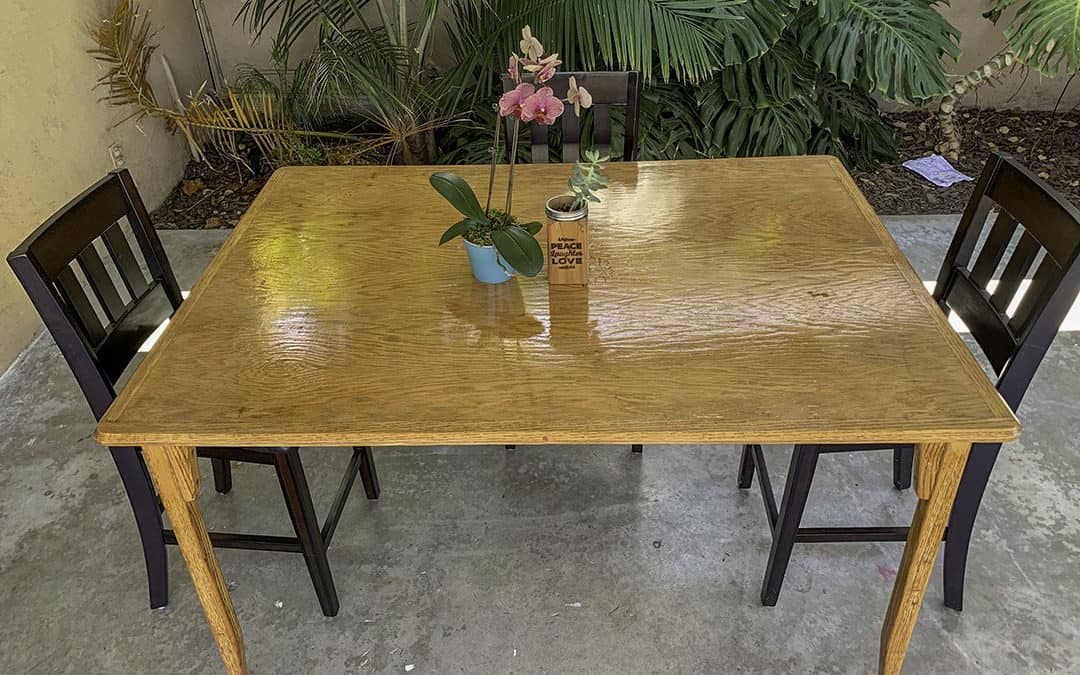 How to refinish and stain an old wood table - Hungarican Journey
