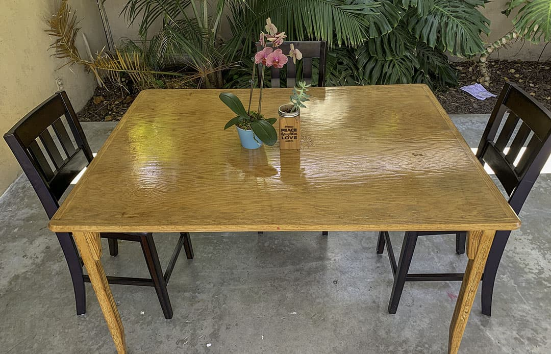 DIY wood table renovation