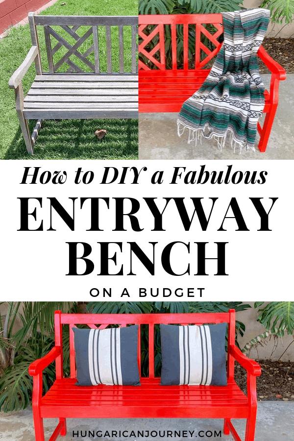 entryway bench DIY project