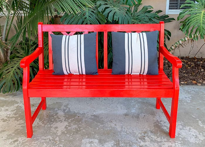 mini mudroom bench