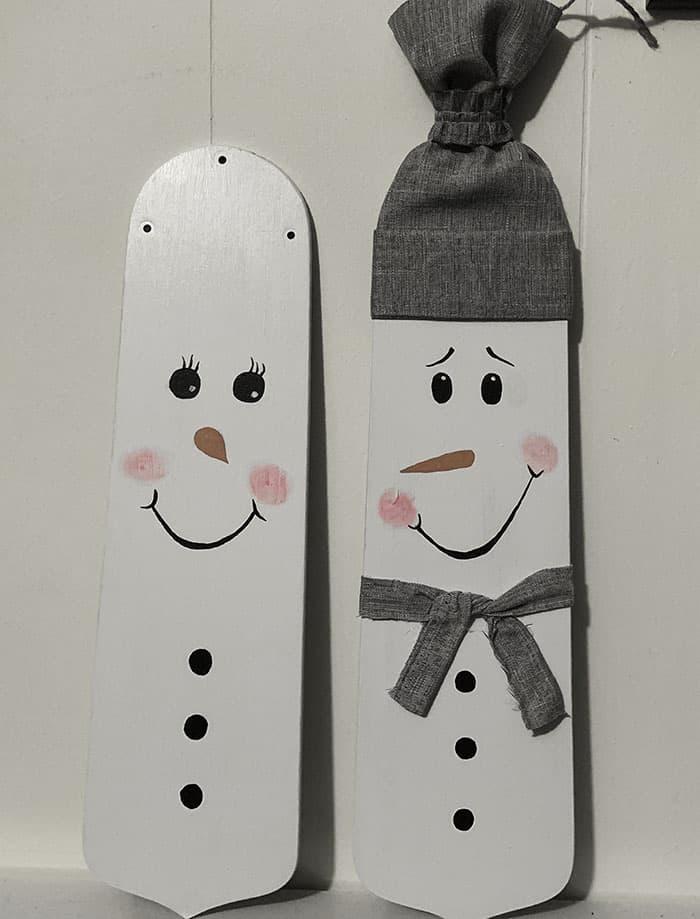 diy painted snowman yard decorations