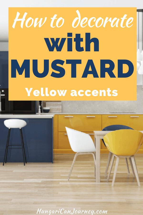 mustard yellow home decorations