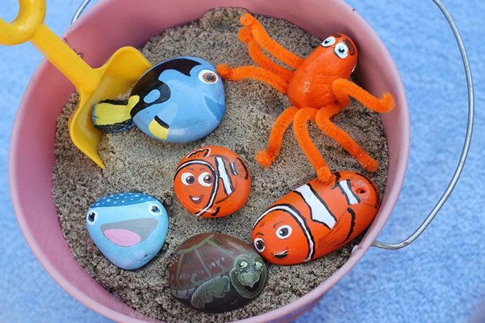 painted rocks fish