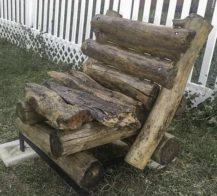 sustainable backyard driftwood furniture