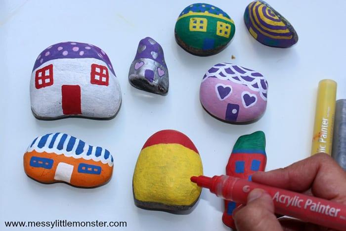 easy painted rocks designs