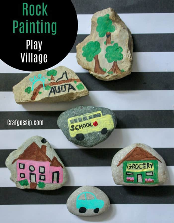how to display painted rocks