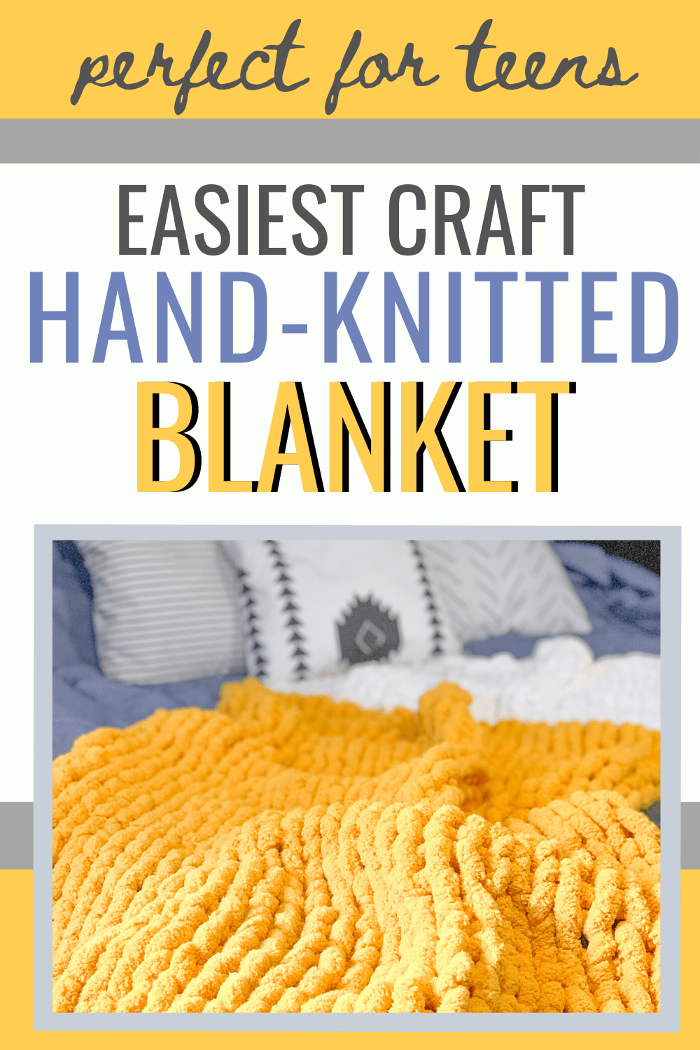 hand-knit a blanket craft