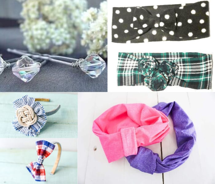 DIY scrunhies and hairband tutorials