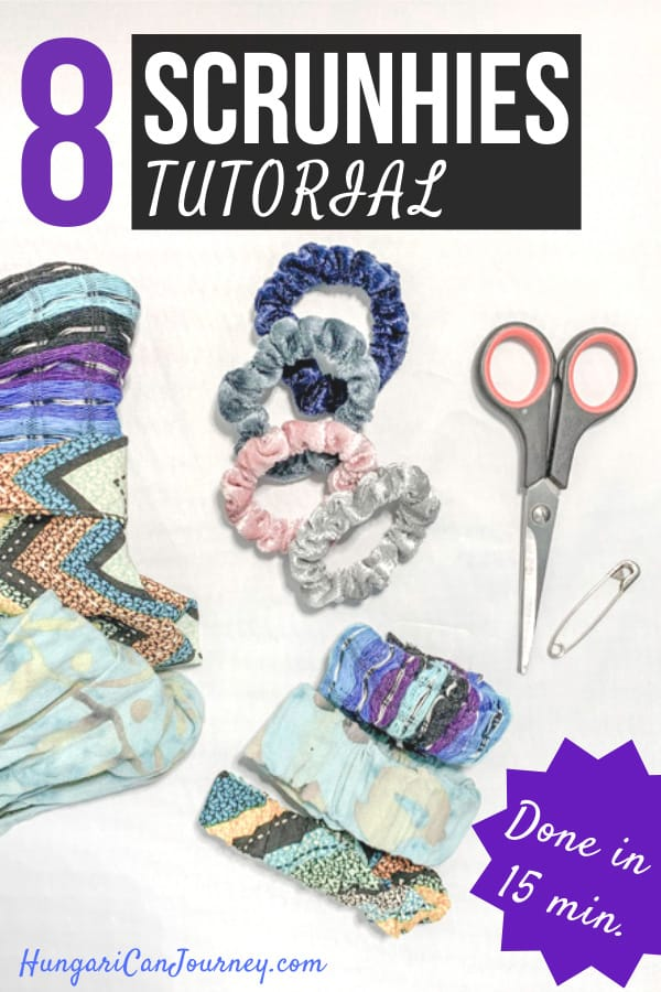 diy scrunchie without sewing