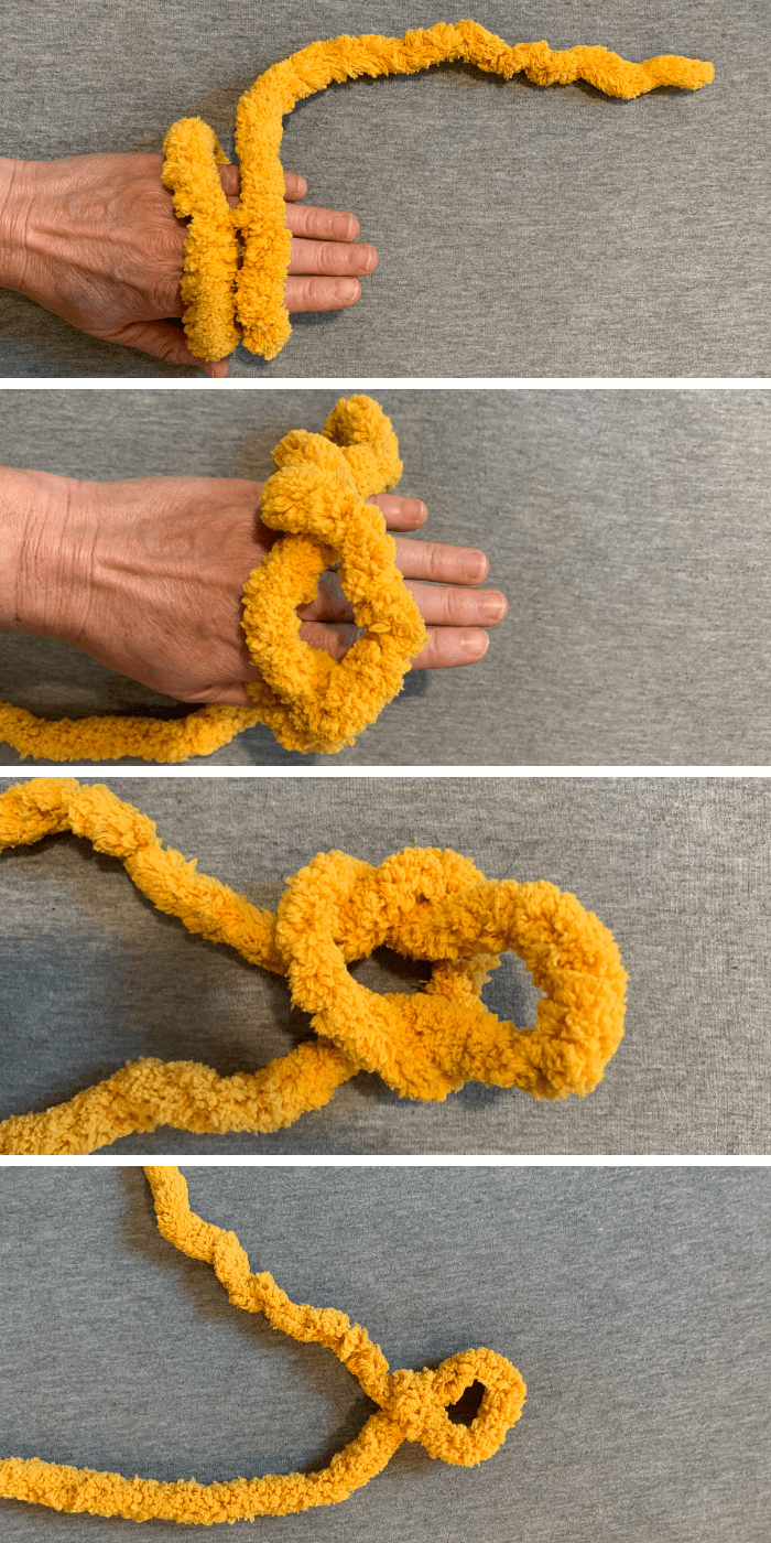 how to make a slip knot for hand knitted blanket