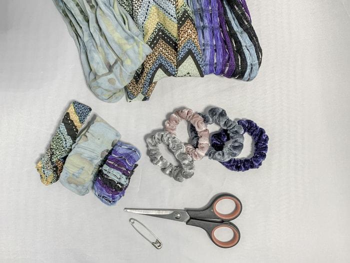 diy scrunchie hand sew instructions