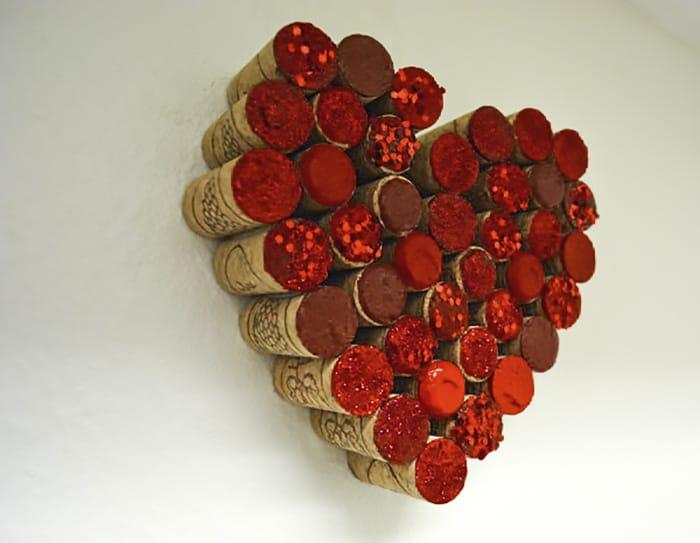 upcycled cork wall art