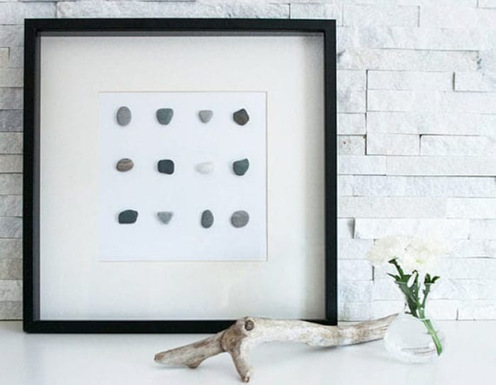 thrift store decorating with frames