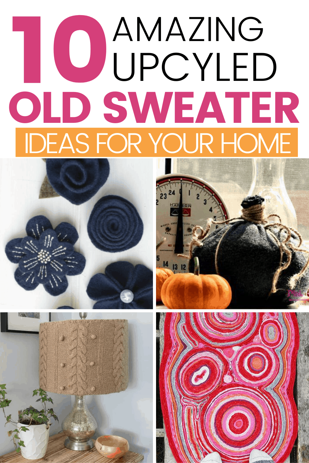 upcycled sweater home decor ideas