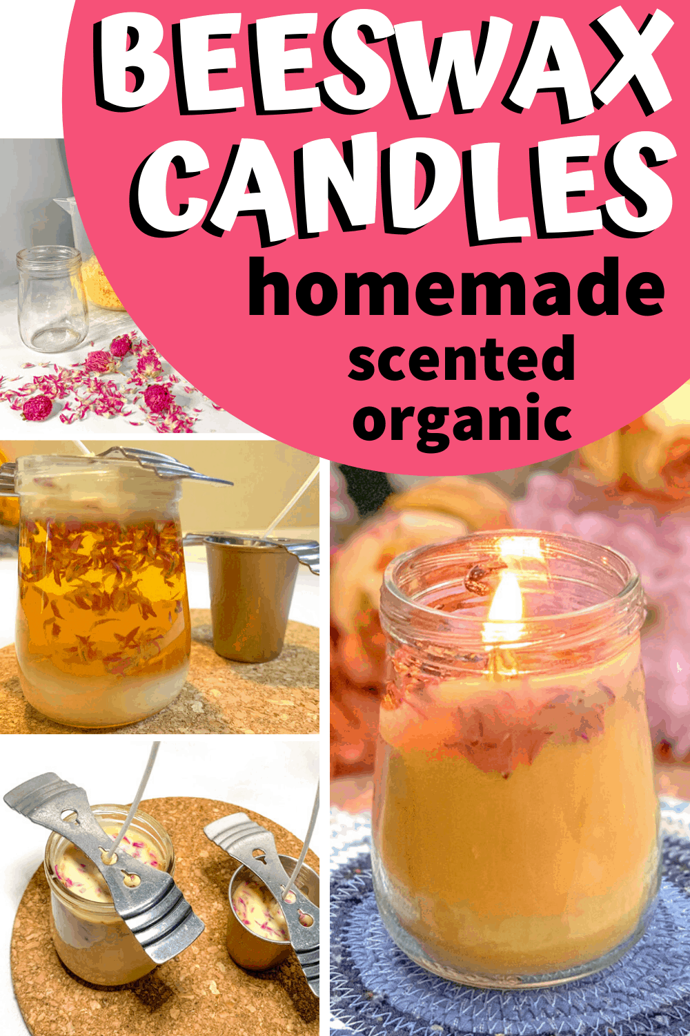 how to make beeswax candles from scratch