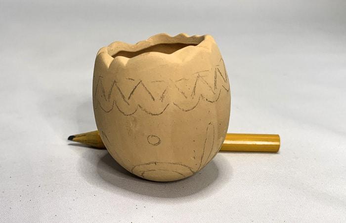 clay pot paint designs