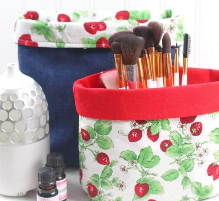 how to make fabric storage bins