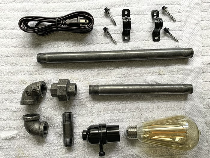iron pipe lamp parts