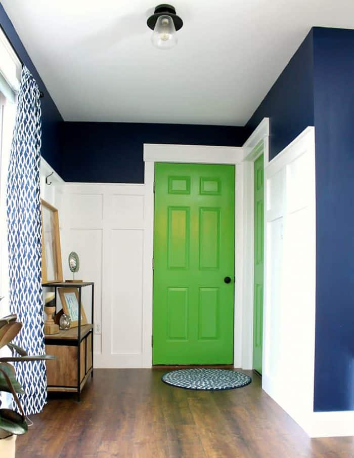 pop of green painted door