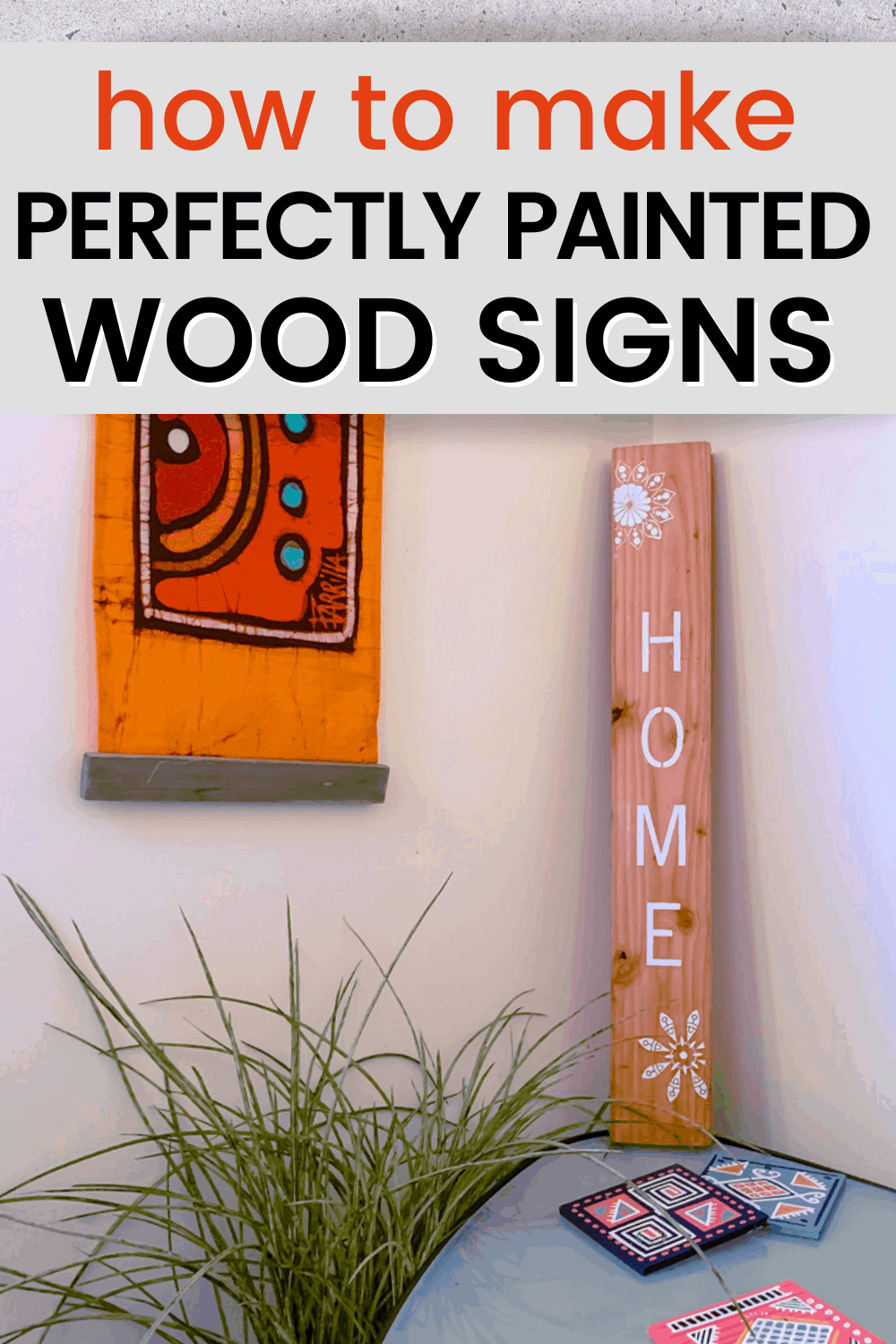 how to stencil on wood with acrylic paint