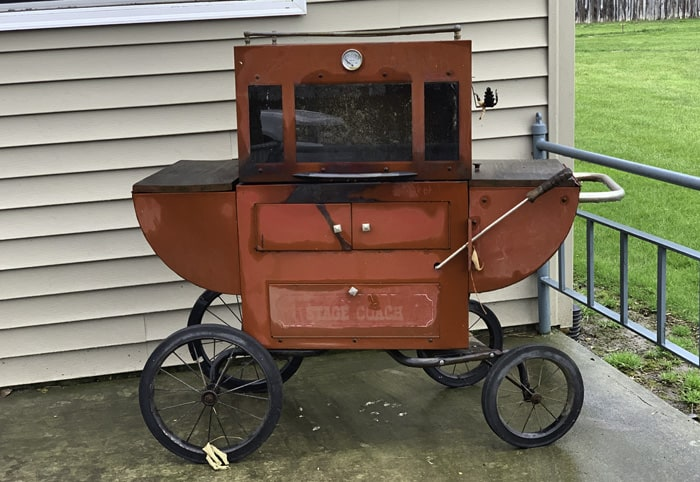 upcycled outdoor grill