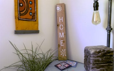 How to stencil onto wood with perfect results