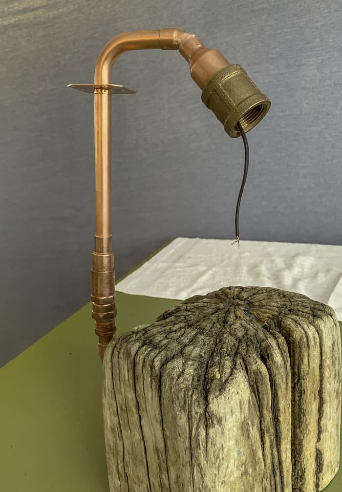 copper light fixture wiring