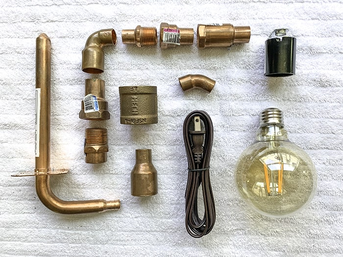 copper lamp parts