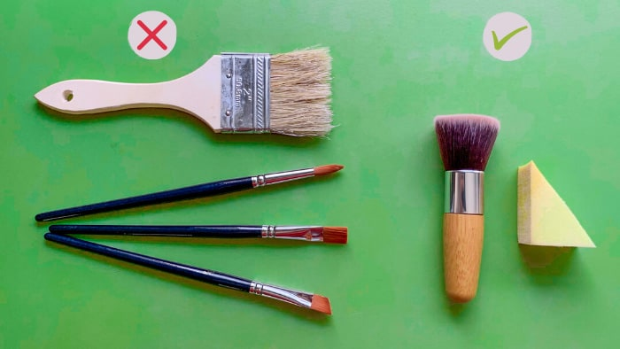 best brush for stencil painting