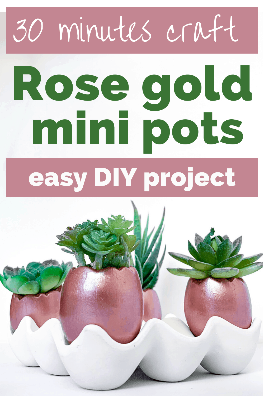easy terracotta mini pots DIY