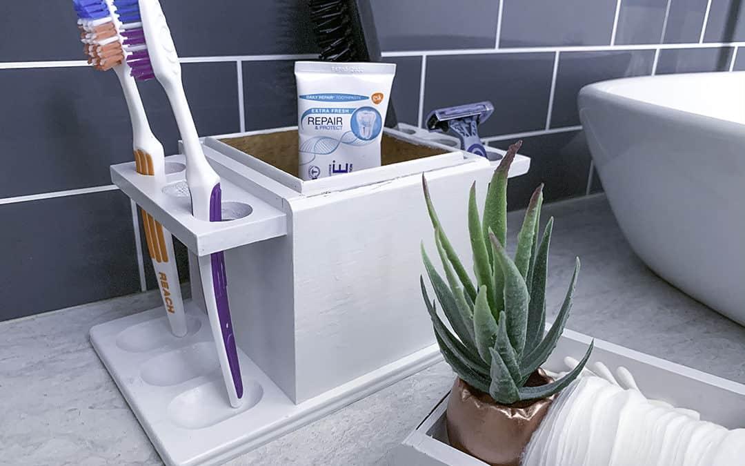 Cute DIY toothbrush holder under $10