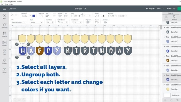 Customize fonts and change colors