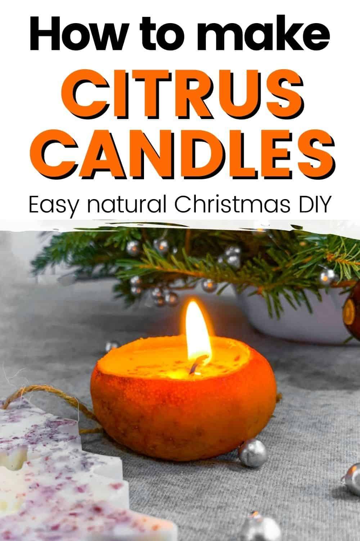 citrus orange peel candle diy