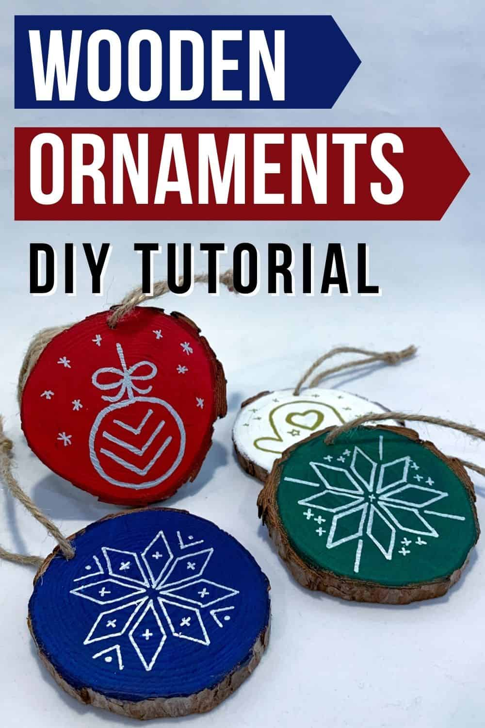 wooden Christmas ornament tutorial