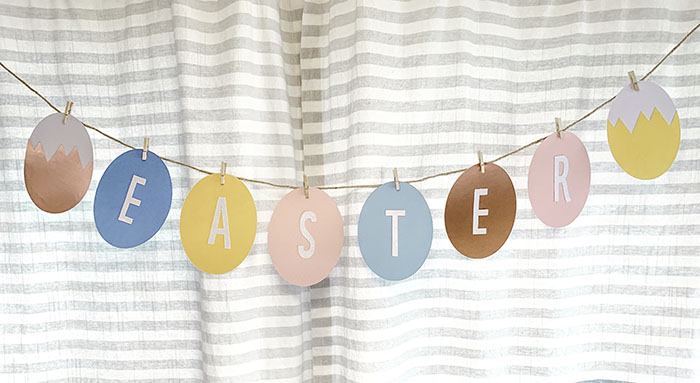 Happy Easter banner with cricut