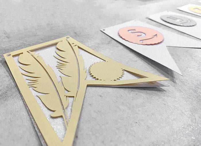 glue and decorate cardstock banners